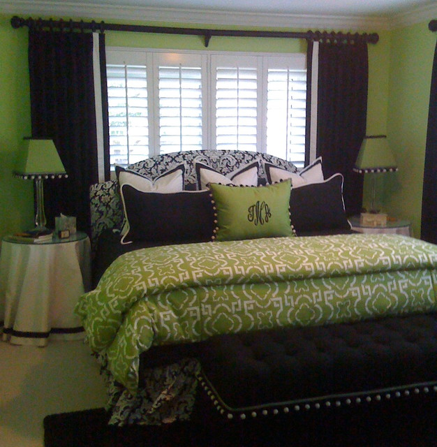 Green Bedroom Contemporary Window Treatments Tampa By Curtain Pros