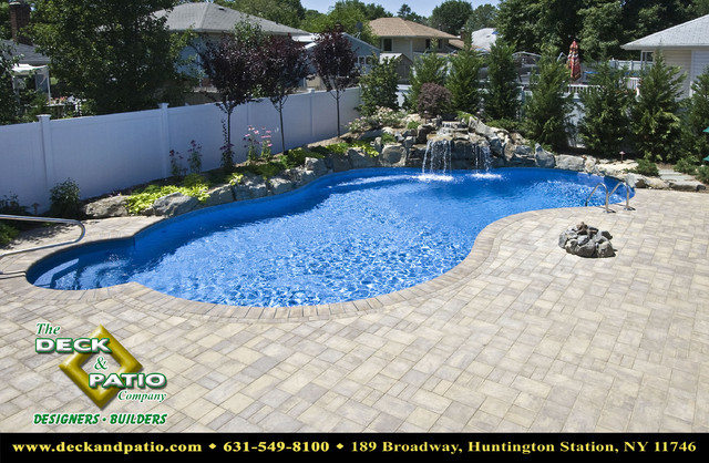 Patio, Patios, Stone and paver and brick patios, pool patios traditional-pool