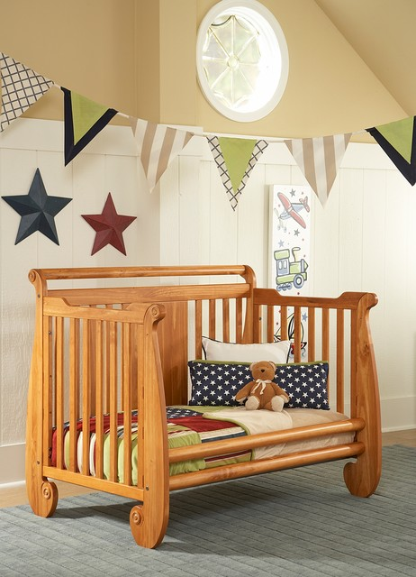 Serenity Crib Converted Into Toddler Bed