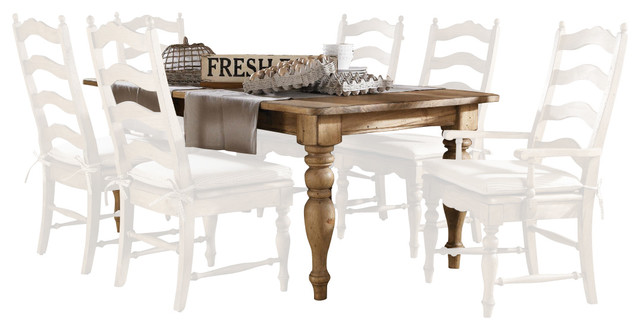 solid wood farmhouse leg table in vintage pine traditional dining
