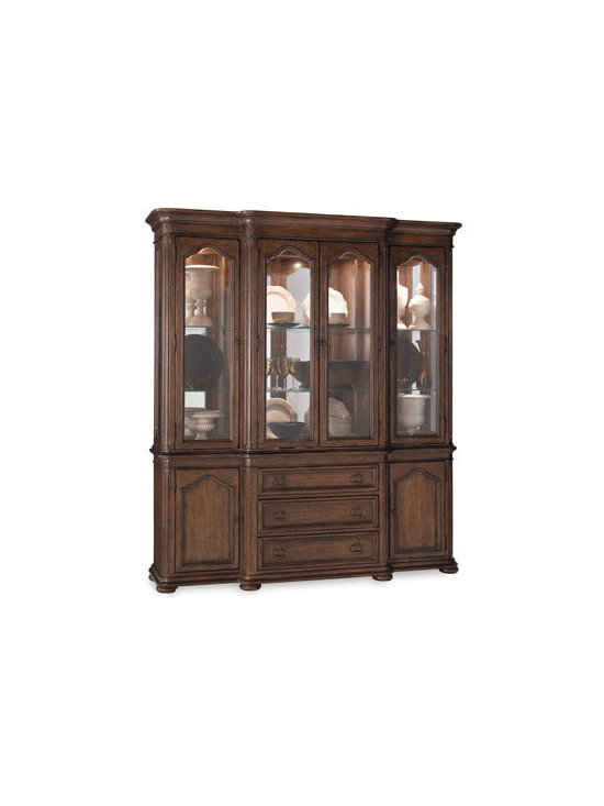 Horchow - Coleman China Cabinet - Beautiful curves and elegant fluting are the hallmarks of this impressive china cabinet. Designed to endure, it is elegant enough for the most formal dining room but could do double duty in a library, office, or other living area as a curio cabinet or b...