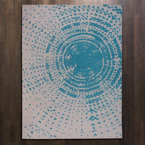 Global Views Cosmos Rug in Aqua contemporary-rugs