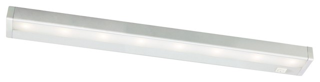 "W.A.C. Satin Nickel LED 24"" Wide Under Cabinet Light Bar modern-undercabinet-lighting"