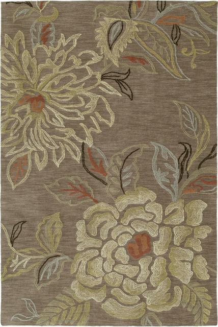Kaleen Inspire Sensation 9' x 12' Mocha Rug contemporary-rugs