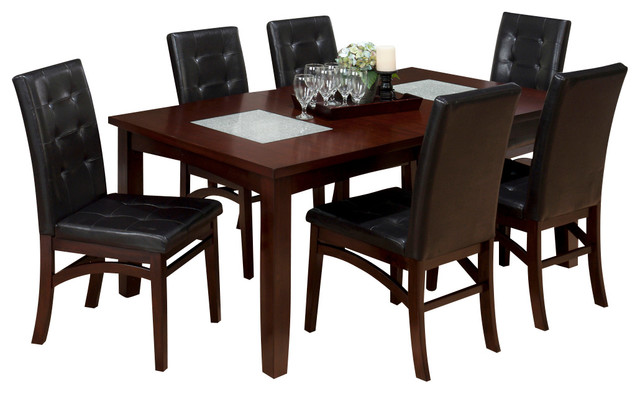 jofran 863 72 chadwick 7 piece rectangle extension dining