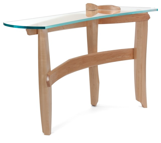 Curved Glass Hall Table - Modern - Side Tables And End Tables - by ...