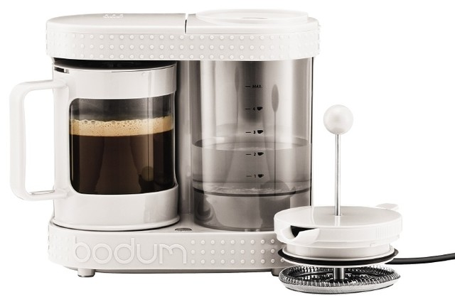 White Electric Coffee Maker : Electric French Press Coffeemaker, 4 cup, White - Modern - Coffee And Tea Makers - by Bodum