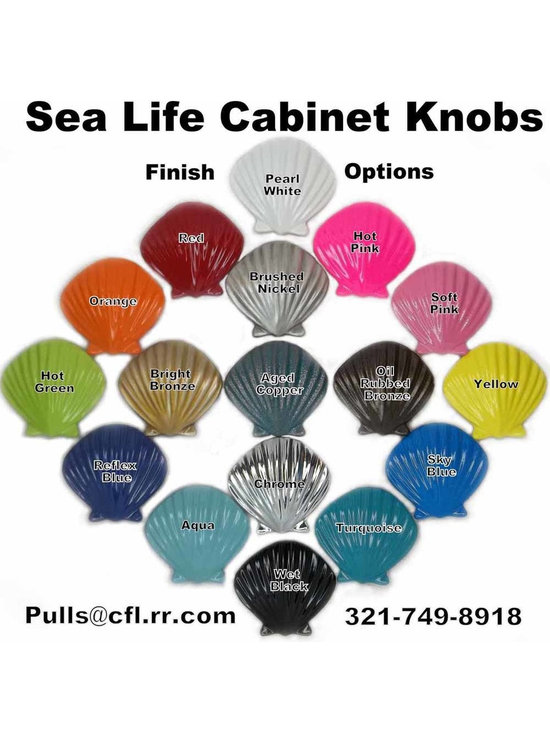 """Beach Robe Hooks - Beach Robe Hooks. Peter Costello designed pewter cabinet knob mounted on a decorative aluminum hook. Available in brushed nickel, and a variety of decorator powder coat colors. Hook measures approx. 5"""" tall by 3/4"""" wide. Hook opening is 1.5"""", mounting hardware included. Chrome Plated models now available on special request."""
