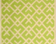 Safavieh Dhurries Light Green Rug contemporary-rugs