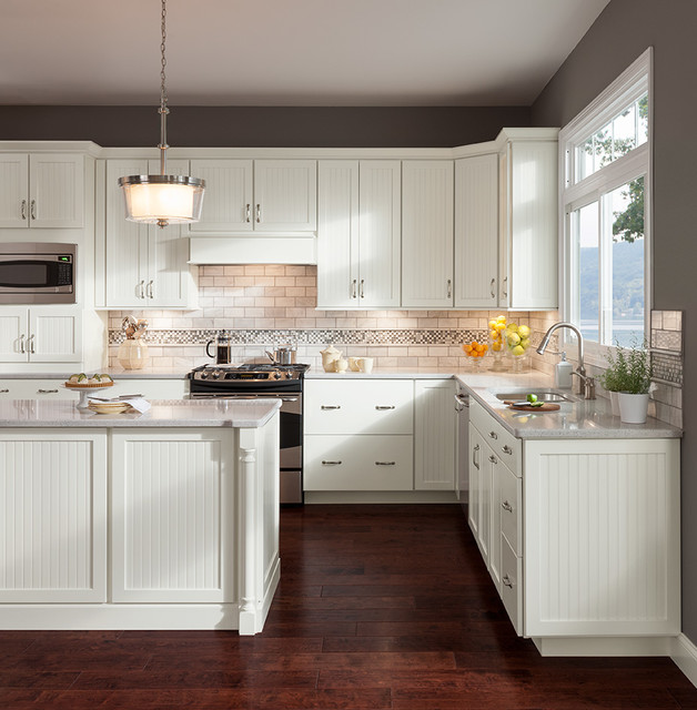 Cottage Painted Linen Cabinets - Transitional - Kitchen ...