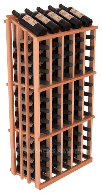 Single Reveal Half Aisle 65 Bottle in Redwood traditional-wine-racks