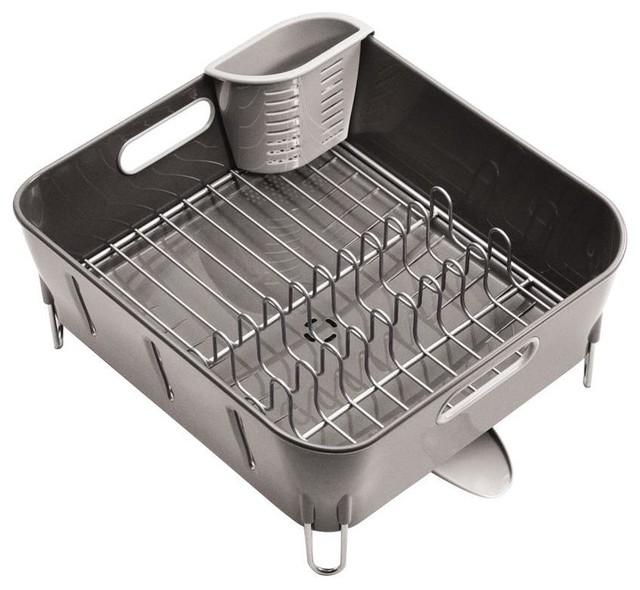 Simplehuman Dish Racks Compact Dish Rack In Grey Plastic