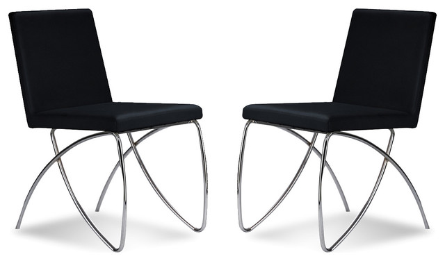 Scarlet Black Dining room Chair Set contemporary-dining-chairs