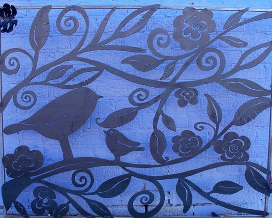 Lovely Birds Fireplace Screen -