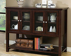 Beckett Dark Walnut Buffet contemporary buffets and sideboards