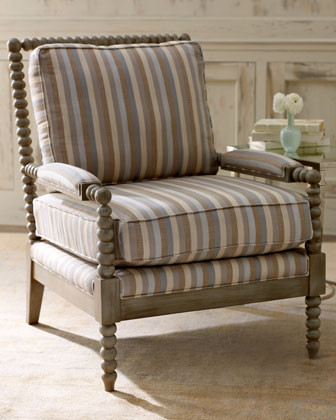 Dorian Stripe Bobbin Chair traditional-living-room-chairs
