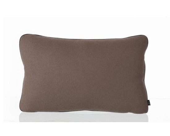 Ferm Living Wool Pillow - These strong blocks of color will leave a mark no matter where you place them. Each Ferm Living Wool Pillow is made up of two color's – a Light Grey on one side and then either Brown, Blue, Olive or Curry on the other.