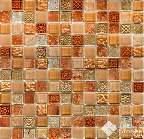 Mayan Terra Mosaic Tile Traditional Mosaic Tile
