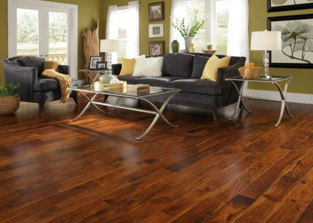 Engineered Golden Teak Hardwood Flooring By Lumber