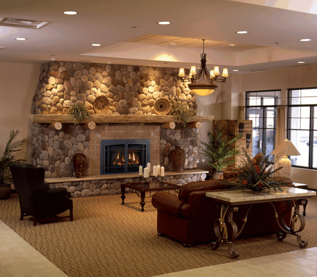 Fireplace Living Room Setting Indoor Fireplaces Other