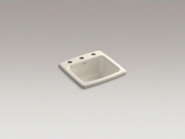 KOHLER Gimlet(TM) top-mount bar sink with 3 faucet holes contemporary-kitchen-sinks
