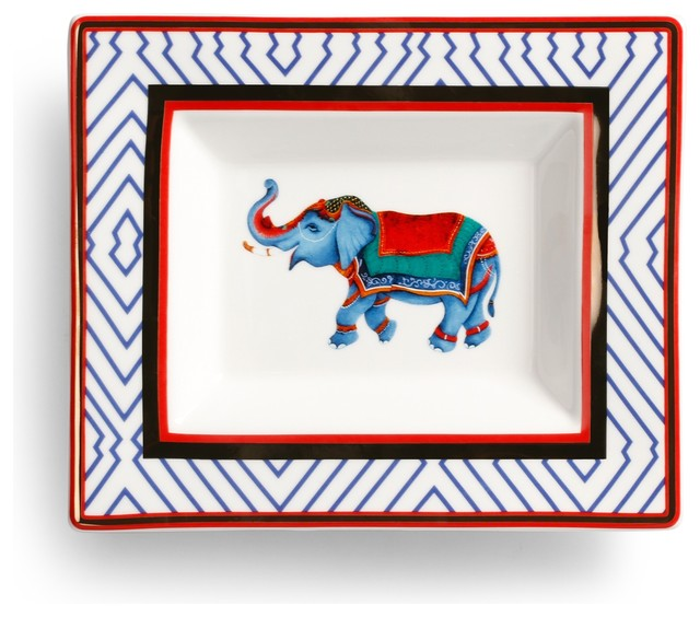 Happy Elephant Plate eclectic-home-decor