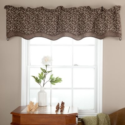 Ellis curtain tremblay bradford valance modern curtains by hayneedle - Modern valances for kitchen ...