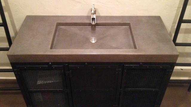 Concrete Counter Tops contemporary-bathroom-countertops