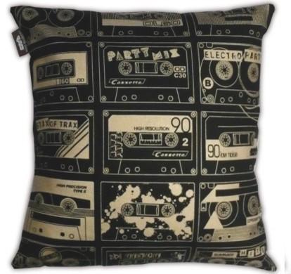 C-60 Cushion, Black/Gold eclectic-decorative-pillows