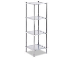 Contas 4 Tier Etagere in Chrome modern accessories and decor