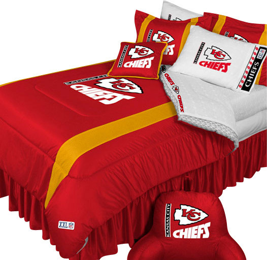 Microfiber bathroom rugs - Nfl Kansas City Chiefs Football 5 Piece Full Double
