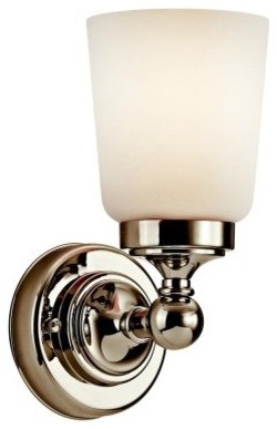 Kichler Perth 45165PN Wall Sconce - 4.75 in. - Polished Nickel modern-wall-lighting