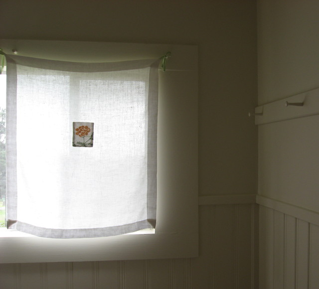 Linen curtain giving privacy but keeping the light for Linen shades window treatments