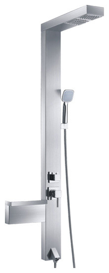 Stainless steel rainfall Shower Panel 935-37 contemporary-bath-and-spa-accessories