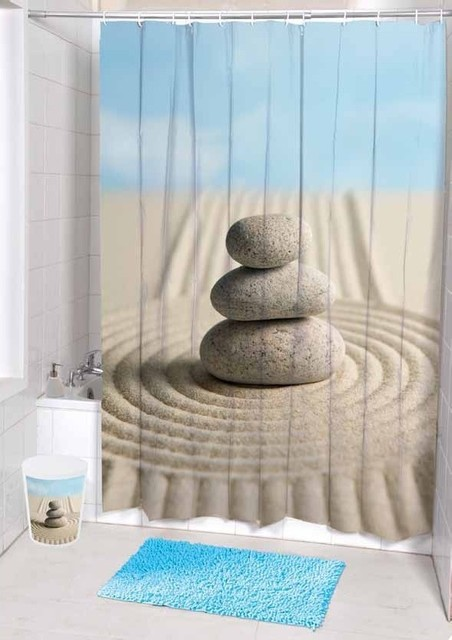 Unique Desert Landscape stones Fabric Shower Curtain tropical shower curtains