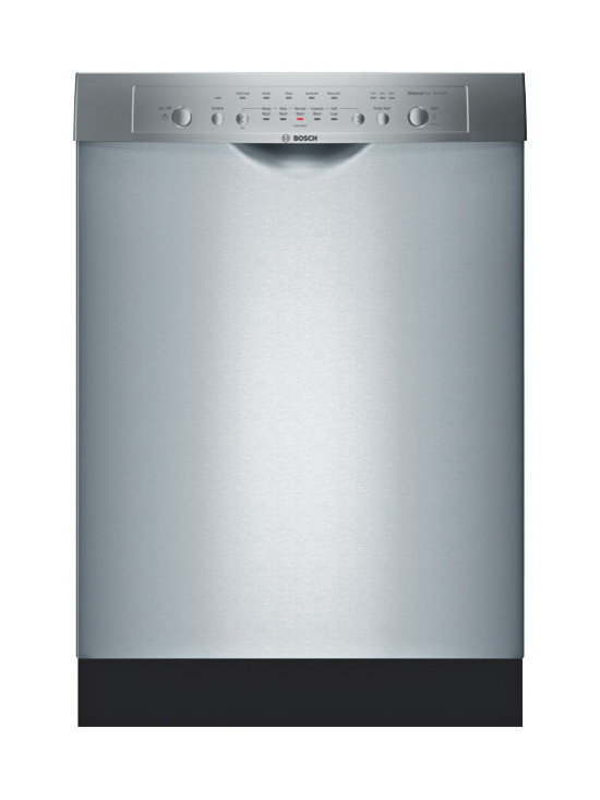 """Bosch 24"""" Ascenta Series Dlx Recessed Handle Dishwasher, Stainless 