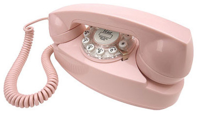 Princess Phone in Pink by Crosley Radio eclectic home office products