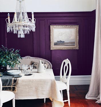 Purple dining room by dominomag traditional