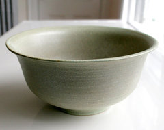 Kaska Large Pistachio and Grey Bowl by Leili Design traditional serveware