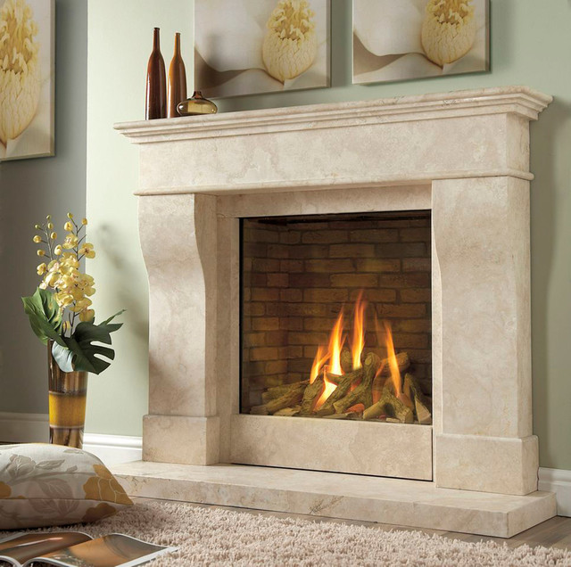 Kinder da vinci gas fireplace for Contemporary ventless gas fireplaces