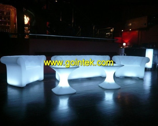 led bar stool set for event seating -