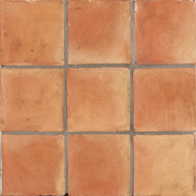 Spanish handmade terracotta tile mediterranean wall Spanish clay tile