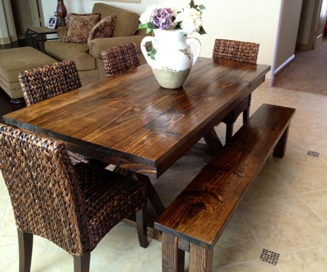 6ft Trestle Dining Table Farmhouse Tables