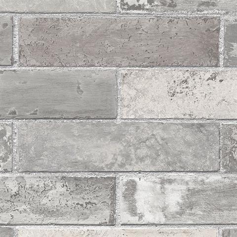 brick double roll wallpaper gray contemporary wallpaper