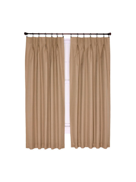 Ellis Curtain - Crosby Linen 96 x 84-Inch Pinch Pleated Patio Panel - -Ellis Curtain Crosby Thermal Insulated Pinch Pleated Foamback Patio Panel?Save Energy and sleep better at an economical price! We?ve designed the Crosby thermal insulated curtain program with quality of life in mind. The Crosby Pinch Pleated curtains go way beyond just looking great, they function great too. These amazing curtains come in a choice of five of the most popular decorating colors that are designed to fit within your home d�cor. Constructed with a heavyweight 100-percent polyester face ensures a curtain that has a soft texture and smooth draping effect. A 100-percent acrylic backing provides improved light blocking and insulating qualities that significantly save energy and money year round. During the winter months thermal insulated curtains hold drafts and help keep out the cold while holding in the heat. During the summer months they block the suns rays and keep the heat out while holding the air conditioning in keeping you cooler. The pre gathered pleated patio panel is easily hung on a drapery or traverse rod with drapery rings and pinch clips or drapery hooks. Sold as a single panel, Width is measured overall 96 inches, length is measured overall 84-inches from top of curtain to bottom of panel. A stitched bottom hem is added for strength and to provide a clean crisp edge. Coordinating Crosby Tab Top Valance and Crosby Tab Top Thermal Insulated Curtains also available thru Bellacor. Ellis Curtain - 730462707536
