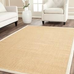 Hand-woven Resorts Maize Beige/ Ivory Fine Sisal Rug   Overstock.com