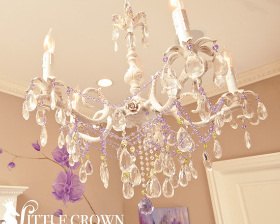 Crystal Chandelier with Roses - Crystal Chandelier with Roses