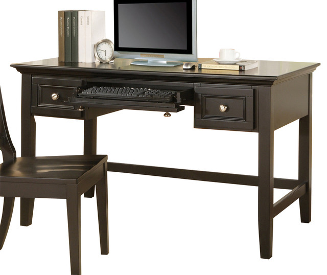 black writing desks Whether your decor is traditional or contemporary, this writing desk will make a great addition in black transitional styling complements any decor.
