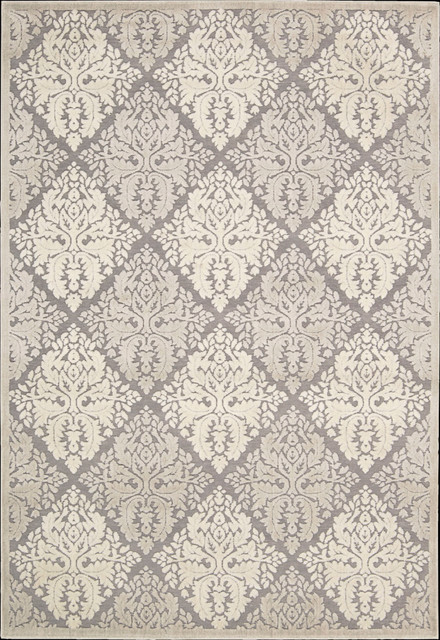 """Graphic Illusions GIL08 2'3"""" x 3'9"""" Ivory Runner Rug contemporary-rugs"""