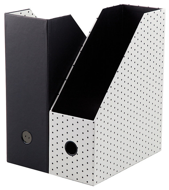 ... Paperboard Magazine File, Assorted Dots contemporary-desk-accessories